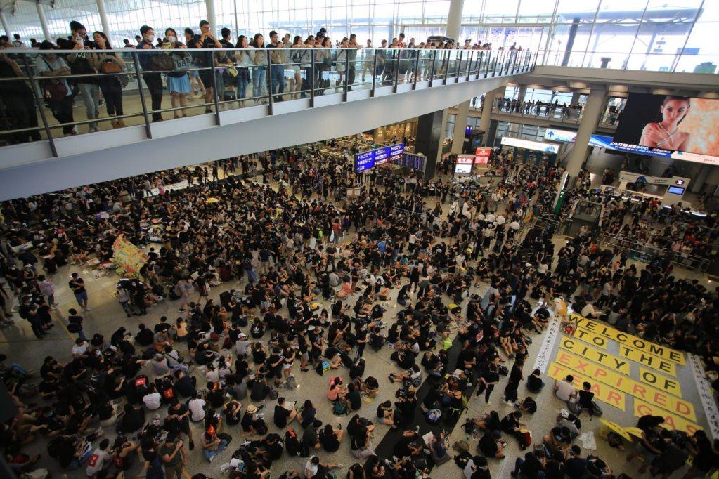 Hong Kong's International Airport, 11 August 2019.